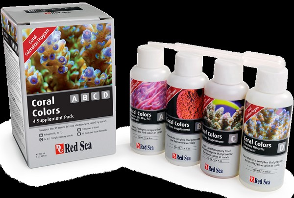Red Sea Coral Colors A,B,C,D 4x100ml.