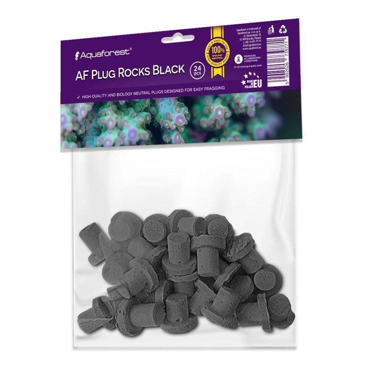 AF Plug Rocks Black 24 pcs